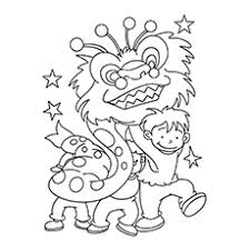Chinese New Year Celebrations Yule Log Coloring Page