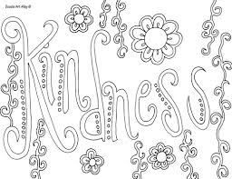 Coloring Page With Kindness Pages