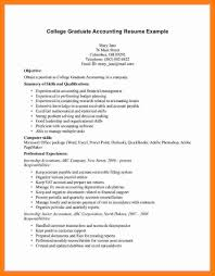 Curriculum Vitae For Accountant Job Sample Fresh Accounting Graduate 13 Resume Of 4
