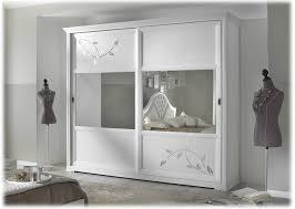 schrank 2 schiebetüren farbe weiß türen mit spiegel und dekorierung schrank aus holz für schlafzimmer einrichtung klassisch modern aus italien