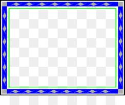 Picture Frame Blue Clip Art
