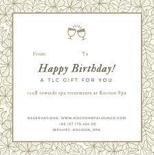Birthday Card 100 Kocoon Spa