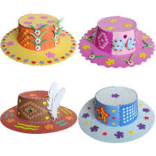 EVA DIY Handmade Hat Craft Toy Children Art Baby Kids Educational Early Puzzle Toys