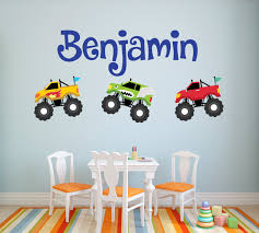 100 Monster Truck Wall Decals Decal Personalized Name Decal Etsy