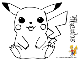 Coloring Pages Print Pikachu Printable