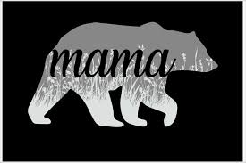 Mama Bear Floral Logo Poster