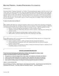 Profile Statement Examples For Resumeresume 2017 W0qk2