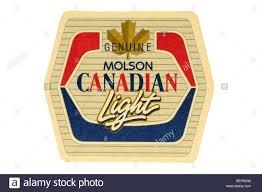 genuine molson canadian light Stock Royalty Free Image