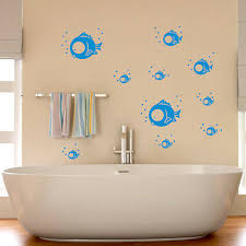 wandtattoo sticker fische unterwasser wandbild badezimmer