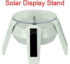 Image Of Solar Rotating Display Stand In Prepare