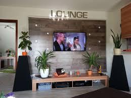 tv wand wohnwand gebaut