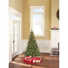 5ft Christmas Tree With Led Lights by Holiday Time 7 5ft Pre Lit Winter Frost Pine Tree Walmart Com