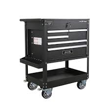Frontier 31 In. 5-Drawer Tool Utility Cart In Black-TC309 - The Home ...