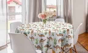 abakuhaus tischdecke kreis tischdecke abdeckung für esszimmer küche dekoration orientalisch kamele mit sättel kaufen otto