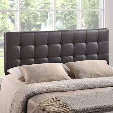 Amazon Upholstered King Headboard amazon com modway lily upholstered tufted vinyl headboard king