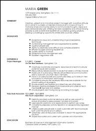 Free Creative Project Manager Resume Template