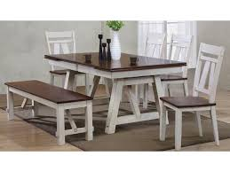 Winslow 6-Piece Two-Tone Refectory Table Set With Bench By Bernards At  Rooms For Less