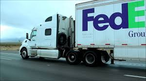 100 Fed Ex Trucking Peterbilt Ground Truck Pulling Doubles On I15 Southbound