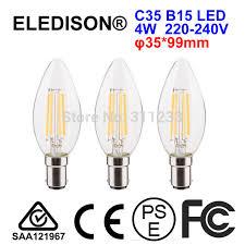 b15 led candle bulb 4w dimmable 220v 230v 240v bayonet filament