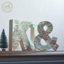 K J Mediterranean Letter Wooden Room Decoration Eur Vintage Decor For Kids Map Printing DecorModern Modern Decorating From