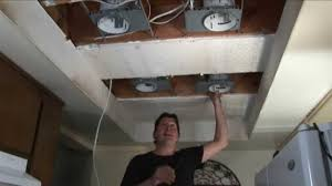 step 1 replace fluorescent lights w recessed lights