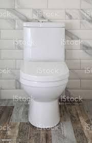 white toilettenschüssel im badezimmer stockfoto und mehr bilder ausrüstung und geräte