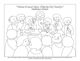 The Last Supper Coloring Page Jesus Christ Printable For Pictures