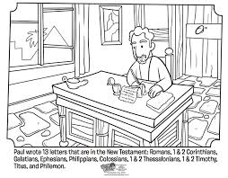 Pauls Letters Coloring Page