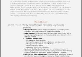 Resume Examples For Category Manager Beautiful Deputy General Samples Visualcv Database