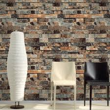 53cm x 10m pvc vinyl modern faux brick 3d wallpaper living