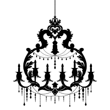 Download Chandelier Silhouette Isolated On White Background Stock Vector