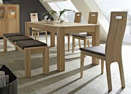 essgruppe esszimmergruppe esstisch bank stühle leder kernbuche massiv geölt lanatura