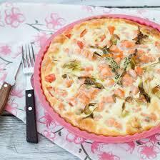 recette quiche au saumon fumé asperges vertes et gruyère