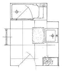skizze kleinbad mit twinline 2 duschbadewanne