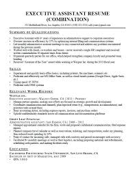 Resume Examples For Executive Assistant Executive Assistant Resume