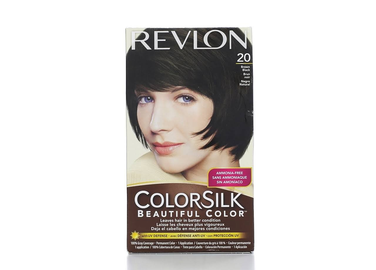 Revlon ColorSilk Beautiful Color Permanent Haircolor - 20 Brown Black