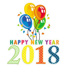 Happy New Year 2018 clipart images free clip art banner
