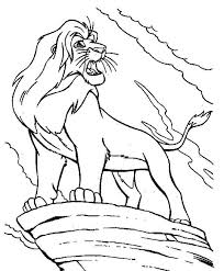 Lion King Mufasa Is Angry The Coloring Page