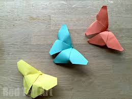 Origami Butterflies How To