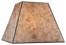 Craftsman Lamp Shades Square Mica Shade SH9586 Rustic By 9