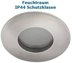 feuchtraum einbaustrahler einbaurahmen ip44 schutzklasse