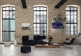 stilvolles modernes wohnzimmer inneren architectural building with black stühle holztisch und kronleuchter