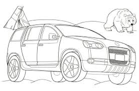 Volkswagen Magellan Car Coloring Page The Kids Pages