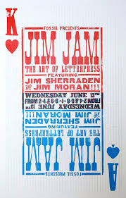 Brandon Griswold Designed This Poster For A Fossil Event Featuring Jim Moran Of Hamilton Wood Type