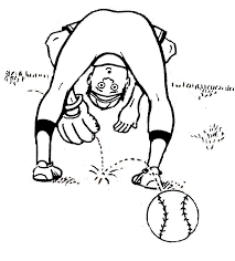 Baseball Printable Coloring Pages For Girls
