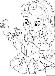 Amazing Free Little Princess Cartoon Coloring Pages Printable For Kids