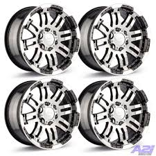 100 Ford Truck Rims Set 4 17 Vision 375 Warrior Black Machined 1785 865 Chevy