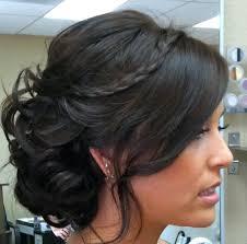 Black Vintage Braided Wedding Hairstyle