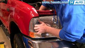 how to install replace headlight and bulb 99 04 ford duty