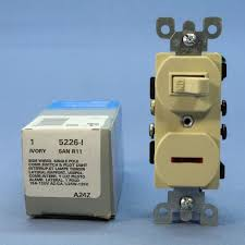 leviton ivory commercial toggle wall switch w pilot light 15a 120v
